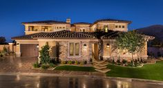Residence Six | 6,108 sq. ft. | 6 Bedrooms | 5 Full Bathrooms | 2 Half bathrooms | 4 Bay Garage | 2 Stories | Olympia Ridge | Southern Highlands | Lennar Las Vegas