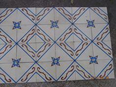 Antique encaustic tiles - panel  230 tiles - 99sq ft floor or wall