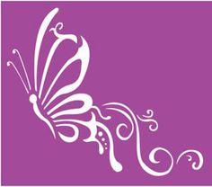 Servilletas y algo más  -  Stencil Quilting Stencils, Stencil Patterns, Flamingo Vector, Butterfly Stencil, Diy Leather Bracelet, Stencil Painting On Walls, Alphabet Stencils, Concrete Crafts, Kolam Designs