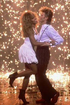 """Tina Turner & David Bowie, Dance To """"Modern Love"""" During The Filming Of A 1987 Pepsi Commercial"""