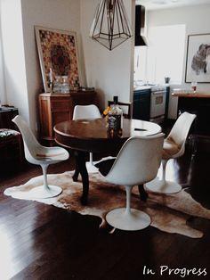 Image result for tulip table white vintage interior design