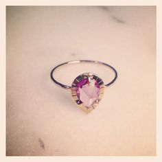OOAK Etruscan Ring - Pink sapphire in gold.