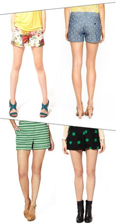 Shorts! With heels! from ohjoy.com (Ted Baker, J. Crew, Anthro, and Whistles)