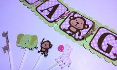 Pink Safari/Jungle Themed Baby Shower