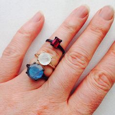 Perigee Moonstone Solitaire Engagement Ring in 14k White Gold by TheFlyingFoxArts, $1375.00