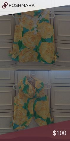 Lilly Pulitzer baby 12-18 like new Beautiful yellow first impressions baby shift. Flawless and like new. Lilly Pulitzer Dresses Formal