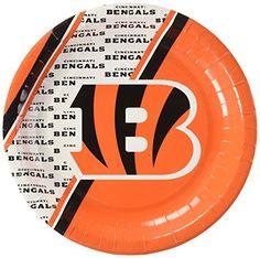 NFL Cincinnati Bengals Disposable Paper Plate 20Pack ** Click image for more details.