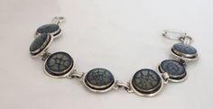 Black Link Bracelet - Resin Bracelet - Unique Bracelet - Hand Painted Jewelry - Stacking Bracelet - Minimal Bracelet - Modern Jewelry - Gift by IvanRoseCreations on Etsy