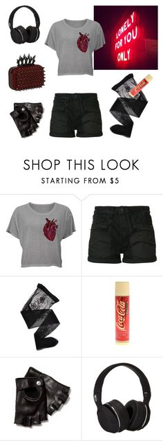 """""""Stranger Than You Dreamt It"""" by cherrycokegrunge ❤ liked on Polyvore featuring Helmut Lang, Emporio Armani, claire's, John Varvatos and Skullcandy"""