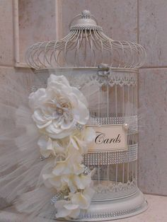 this beautiful birdcage wedding card holder would be the perfect piece to add to any romantic