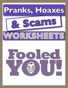 Great fun pack that investigates the types of Pranks, Hoaxes and Scams that are…