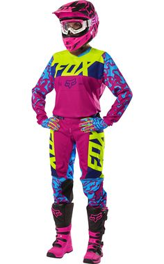 Fox is the leader in motocross and mountain bike gear, and the apparel choice of action sports athletes worldwide. Shop now from the Official Fox Racing® Online store. Womens Motocross Gear, Motocross Outfits, Motocross Love, Motocross Girls, Motocross Helmets, New Dirt Bikes, Dirt Bike Gear, Motorcycle Gear, Triumph Motorcycles