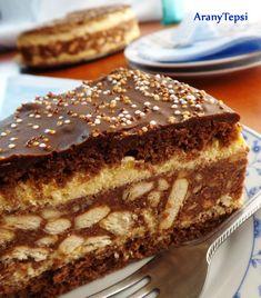AranyTepsi: Kekszes-gesztenyés torta szülinapra Hungarian Recipes, Hungarian Food, International Recipes, Tiramisu, French Toast, Breakfast, Cake, Ethnic Recipes, Sweet