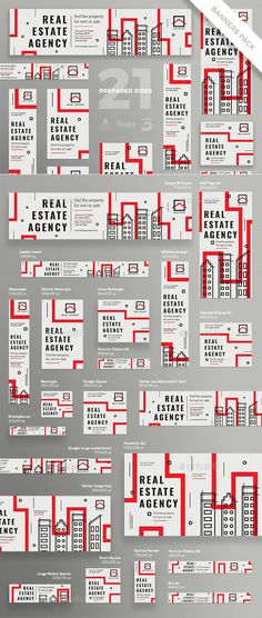 Real Estate Agency Banner Template PSD, Vector EPS