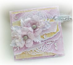 Handmade by Karasiowa: Challenge # 7 Summer color palette - DT Altair Art Beautiful Handmade Cards, Unique Cards, Pretty Cards, Cute Cards, Flower Bouquet Diy, Shabby Chic Cards, Candy Cards, Tent Cards, Cricut Cards