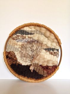 Shop for on Etsy, the place to express your creativity through the buying and selling of handmade and vintage goods. Weaving Art, Tapestry Weaving, Hand Weaving, Circular Weaving, Textiles, Textile Fiber Art, Circle Shape, Woven Wall Hanging, Felt Crafts