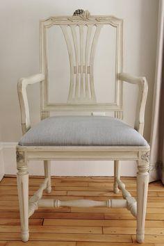 Swedish Gustavian Style Arm Chair by Henhurst on Etsy