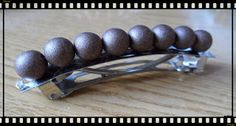 Silvia Jewellery of Style: Ferma capelli di perle marroni brillanti