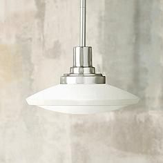 "Structures Nickel Monopoint 9"" Wide Mini Pendant"
