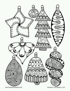 Christmas Ornament Coloring Pages | Christmas coloring pages ...