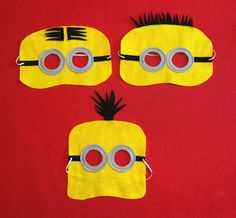 Minion Mask set of 6 party favor