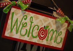 Burton Avenue: Apple Welcome Sign