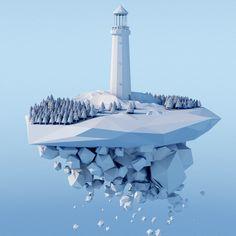 Self-initiated 3d design by Ollie Hooper