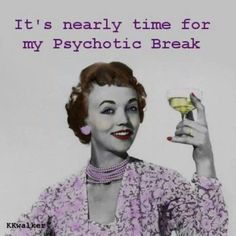 Psychotic Break Time discovered by bambamland Retro Humor, Vintage Humor, Funny Vintage, Haha Funny, Hilarious, Funny Stuff, Funny Shit, Random Stuff, Sarcastic Ecards