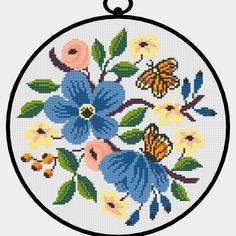 Cross Stitch Rose, Cross Stitch Flowers, Cross Stitch Designs, Cross Stitch Patterns, Stitch App, Hello Kitt, Crochet Stitches, Kids Rugs, Embroidery