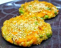 Fritada de Quinoa com Cenoura e Ervilhas