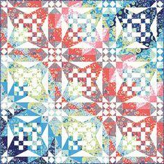 Franny & Jane Manderley Crashing Waves Complete Fabric Quilt Kit 72.5 x 72.5 #ModaFabrics