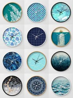 Society6 Blue Clocks - Society6 is home to hundreds of thousands of artists from around the globe, uploading and selling their original works as 30+ premium consumer goods from Art Prints to Throw Blankets. They create, we produce and fulfill, and every purchase pays an artist.