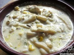 Chicken & Wild Rice Soup. Ingredients: 2 Boneless, Skinless Chicken Breasts 3 Tablespoons Olive Oil 3 Green Onions 3 Cups Half & Half. 1 Box Chicken Broth. 1 Box Uncle Ben's Long Grain Rice. 1/2 Bag Reames Frozen Egg Noodles (Or whatever kind you prefer) 3 Handfuls Frozen Corn 2 Teaspoons Chicken Base Salt & Pepper to taste Directions: Cook chicken breast and cut up green onions in olive oil until slightly pink. Take chicken out and cut up to desired size pieces and place back into pot. Add…