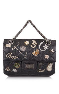 Runway Edition Chanel Black Aged Calfskin Reissue 2.55 Lucky Symbol 224 Flap Bag - Preorder now on Moda Operandi