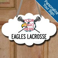 Decorate your space with this lacrosse wood sign featuring ChalkTalkSPORTS exclusive Custom Lacrosse Logo with Team Name design. A great source of motivation that celebrates the sport you love!