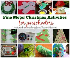 Fine motor Christmas activities for preschoolers - Teaching 2 and 3 Year Olds
