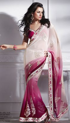 So, it would be weird to just randomly wear a saree, but these things are pretty freaking awesome. Pretty Pink & White Saree by Shanaiya £ 110.00