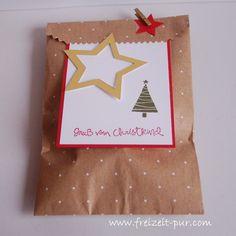 Stampin'Up! Big Shot - Framelits Stern-Kollektion, Dezembertage, Gesammelte Grüße, Verpackung, Weihnachten, Weiße Weihnachten, Gold