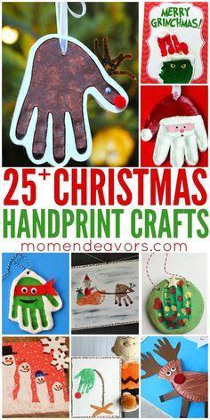 25+ Adorable Handprint Christmas Crafts - love these creative keepsake craft ideas!
