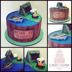 Outdoors themed cake