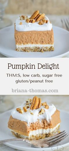 THM:S low carb sugar free gluten/peanut free Pumpkin Delight.THM:S low carb sugar free gluten/peanut free Desserts Nutella, Köstliche Desserts, Low Carb Desserts, Gluten Free Desserts, Low Carb Recipes, Dessert Recipes, Holiday Desserts, Sugar Detox Desserts, Christmas Recipes
