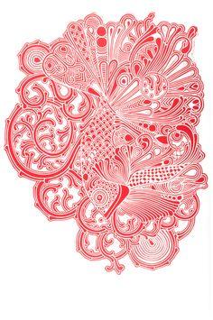 Lino cut by Pallavi Sen, via Behance