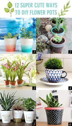 12 Super Cute Ways to DIY Flower Pots // Twin Stripe