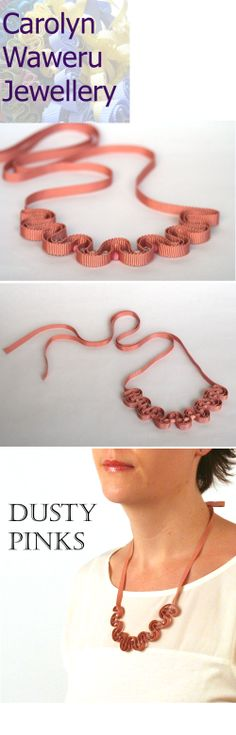 Beautiful dusty pink necklaces available on Carolyn Waweru Jewellery, pretty for summer!