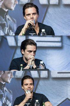 Sebastian Stan during the 'Captain America : Civil War' promo
