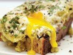 Overeasy egg on sourdough