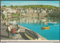 The Harbour, Mousehole, Cornwall, c.1970s - John Hinde Postcard