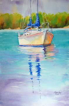No Name Sailboat by Diane Lary