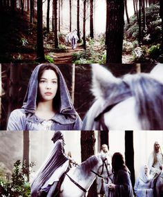 The Lord of the Rings: The Return of the King. One of my favorite scenes as she sees the son she will have if she gives up her immorality. I love it! Having a son with Aragorn means so much she gives up being an elf!!