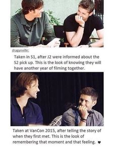 Jensen looks at people like he is n love with them.<<<He thinks of Jared as a brother, you know Jensen Ackles, Jared And Jensen, Destiel, Winchester Boys, Winchester Brothers, Sam Dean, Jared Padalecki, Supernatural Memes, Supernatural Crossover